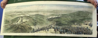 The siege of Plevna: bird's-eye view of the Russian and Turkish positions from the South-East. Supplement to THE GRAPHIC, Dec. 1 1877.