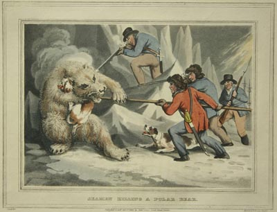 Howitt, Samuel (1765 –1822) совместно с M. Dubourg (до 1786 – после 1838). Seamen killing a Polar Bear.